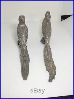 VINTAGE STERLING Silver Sanborns Mexico Pheasants Or Peacock Salt&Pepper Shakers