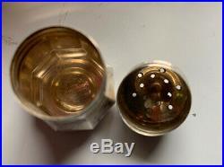 VINTAGE Set Of Eight (8) CARTIER Sterling Silver Salt & Pepper Shakers UNUSED
