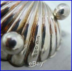 Victorian Silver Shell Salts LB Birmingham 1897 38g A618017