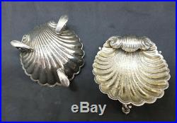 Victorian Solid Silver Scallop Shell Salt Cellar 1883 Hilliard Thomason 78 G