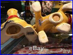 Vintage Antique Salt and Pepper Shakers Disney Pluto Made in Japan Rare