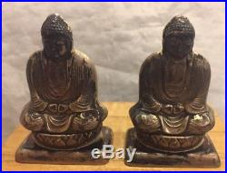 Vintage/Antique Sterling Silver Buddha salt and pepper shakers- Japan In Box