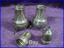 Vintage B&M sterling silver salt and pepper shaker 5 Oz/ 4.75