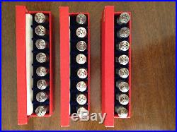 Vintage Cartier Sterling Silver Individual Salt & Pepper Shakers Set of 12 Pair