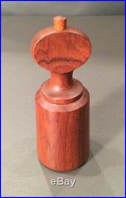 Vintage Dansk Salt & Pepper MILL & Shaker #4 Teak Wood MID Century Modern