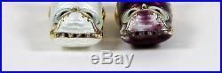 Vintage David Andersen Sterling Owl Salt & Pepper Shakers Guilloche Enamel Boxes