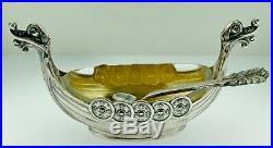 Vintage David-andersen Norway Viking Sterling Silver Salt & Pepper Boxed Setwow