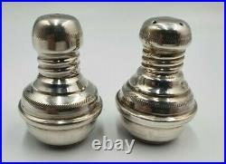Vintage Egyptian Solid Silver Salt & Pepper Pots Shakers