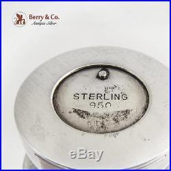 Vintage Engraved Geisha Girls Salt Pepper Shakers Sterling 1960