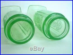 Vintage Federal Sylvan Parrot & Salt Pepper Shakers Depression Glass Antique