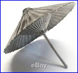 Vintage Japanese 950 Sterling Silver Umbrella Parasol Pair Salt & Pepper Shakers