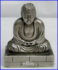 Vintage Japanese Biasanaha Silver Amitabha (kotoku-in) Amida Buddha Shaker