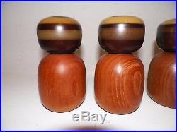Vintage MID Century Digsmed Denby Teak & Stoneware Salt & Pepper Shakers & MILL