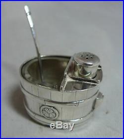 Vintage Miniature Japanese Silver Cruet Set By Asahi Shoten A676817