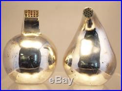 Vintage Modernist Antonio Pineda Los Castillo Sterling Silver Salt Pepper Shaker