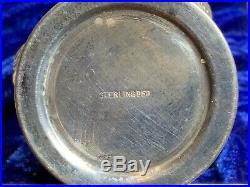 Vintage Post War Japan Sterling Silver Salt & Pepper Shakers Elaborate Floral