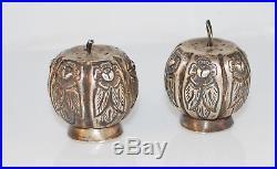 Vintage Sanborn's Sterling Silver Salt and Pepper Shakers Pumpkins Mexico