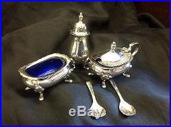 Vintage Silver Cruet Set