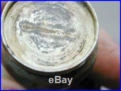 Vintage Sterling Guilloche Enamel Norway Figural Mushroom Salt & Pepper Shakers