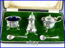 Vintage Sterling Silver Pair MAPPIN & WEBB Condiment Sets