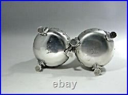 Vintage Sterling Silver Salt & Pepper Shaker Set by Baldwin & Miller(Excellent)