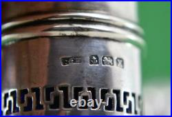Vintage Sterling silver Salt & Pepper Art Deco Period Docker & Burn Birm 1922