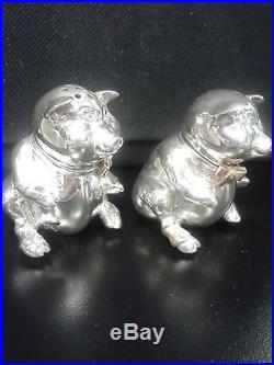 Vintage Tiffany & Co. Sterling Pig Salt & Pepper Set