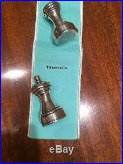 Vintage Tiffany & Co. Sterling Silver Salt And Pepper Shaker Grinder Avon 6627