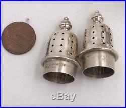 Vintage Tiffany & Co Sterling Silver Salt & Pepper Shakers 60.5grams