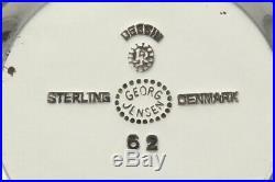 Vintage c1925 Sterling Silver Enamel Georg Jensen Acorn Salt Pepper Shaker Set