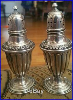 Vintage sterling silver salt and pepper shakers
