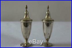 Vtg 1940-50s TIFFANY & CO MAKERS 17671 Sterling Silver SALT PEPPER Shakers 6.9oz