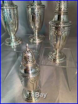 Vtg Towle LOUIS XIV Sterling Silver 2 Pair SALT & PEPPER Shakers Pat 12/23/19