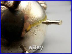 Vtg Whiting Sterling Silver Salt Pepper Shaker Set George II Reproduction Ram