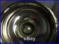 WALLACE Rose Point Sterling SALT PEPPER SHAKERS Master CELLAR Blue Cobalt liner